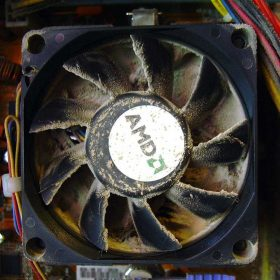 in the dust computer cooling fan
