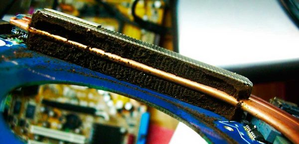 laptop cooling system with dust