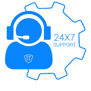 24x7 remote support icon