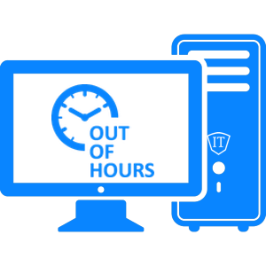out of hours it support icon